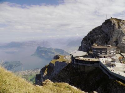 Hotel Bellevue on the top of Mt. Pilatus